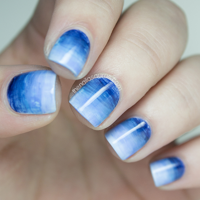 Gradient Nail Art: Life's A Beach - The Nailasaurus