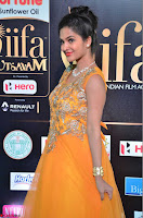 Keerthi in Orange Anarkali Dress at IIFA Utsavam Awards 2017  Day 2  05.JPG
