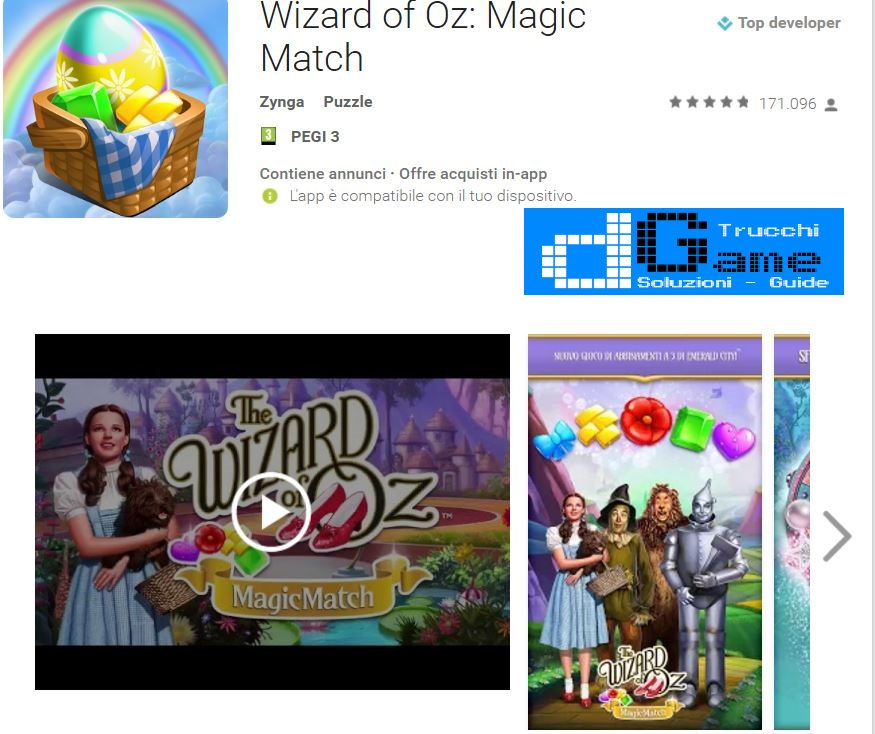 Trucchi Wizard of Oz: Magic Match Mod Apk Android v1.0.2403