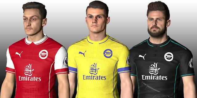 PES 2017 Arsenal FC Fantasy Kits V1 by IDK
