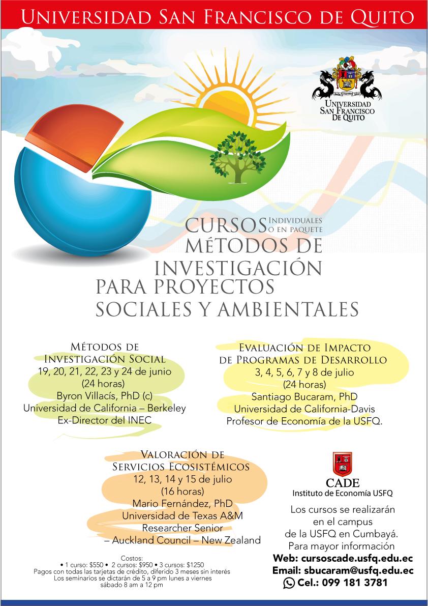 Cursos de Verano: Métodos de Investigación para Proyectos Sociales y ...