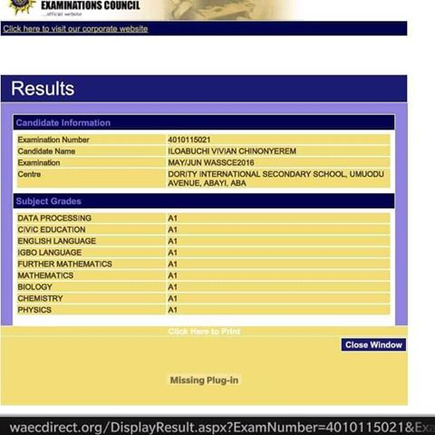 OMG: See The Overall Best WASSCE May/June 2016/2017 Result