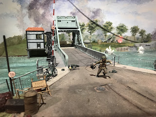 Diorama of the capture of Pegasus Bridge