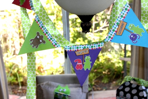 DIY Little Monster Birthday Party - via BirdsParty.com