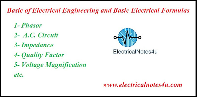 Basic Electrical Formulas