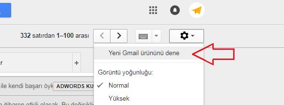 Yeni Gmail ürününü dene