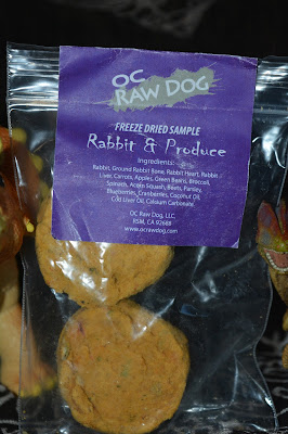 Rabbit-based limited ingredient freeze dried dog food