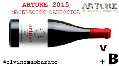 Cata del vino tinto artuke maceración carbónica 2015