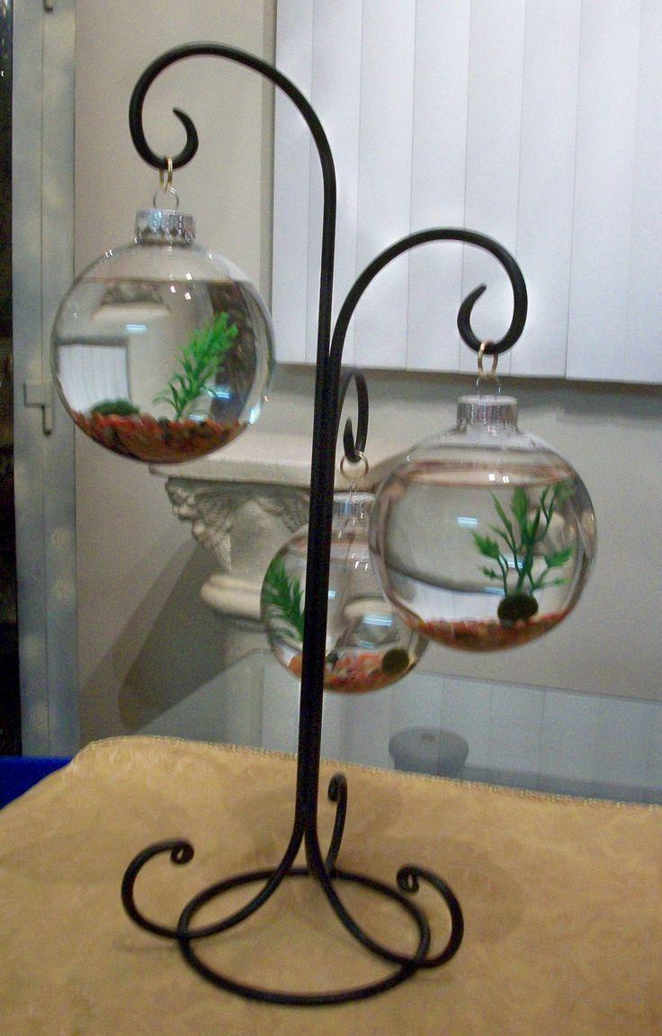 Unique betta fish tank art projects art ideas for Cylinder fish tank