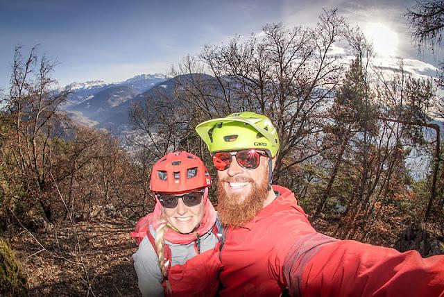 Mountainbike Martinsweg bei Glaning - Südtirol