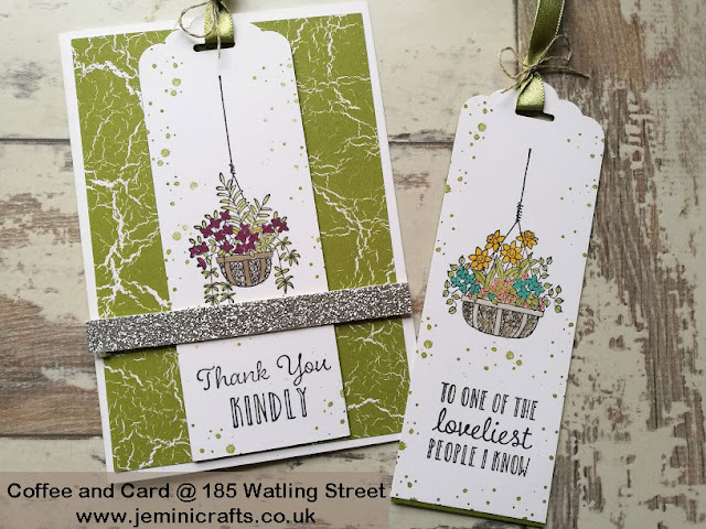 Bookmark cards featuring Hanging Garden from Stampin Up