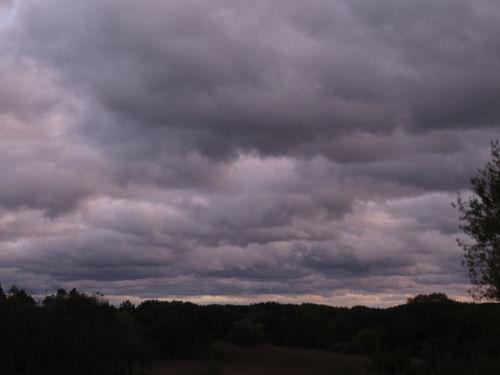 gray cloudy skies