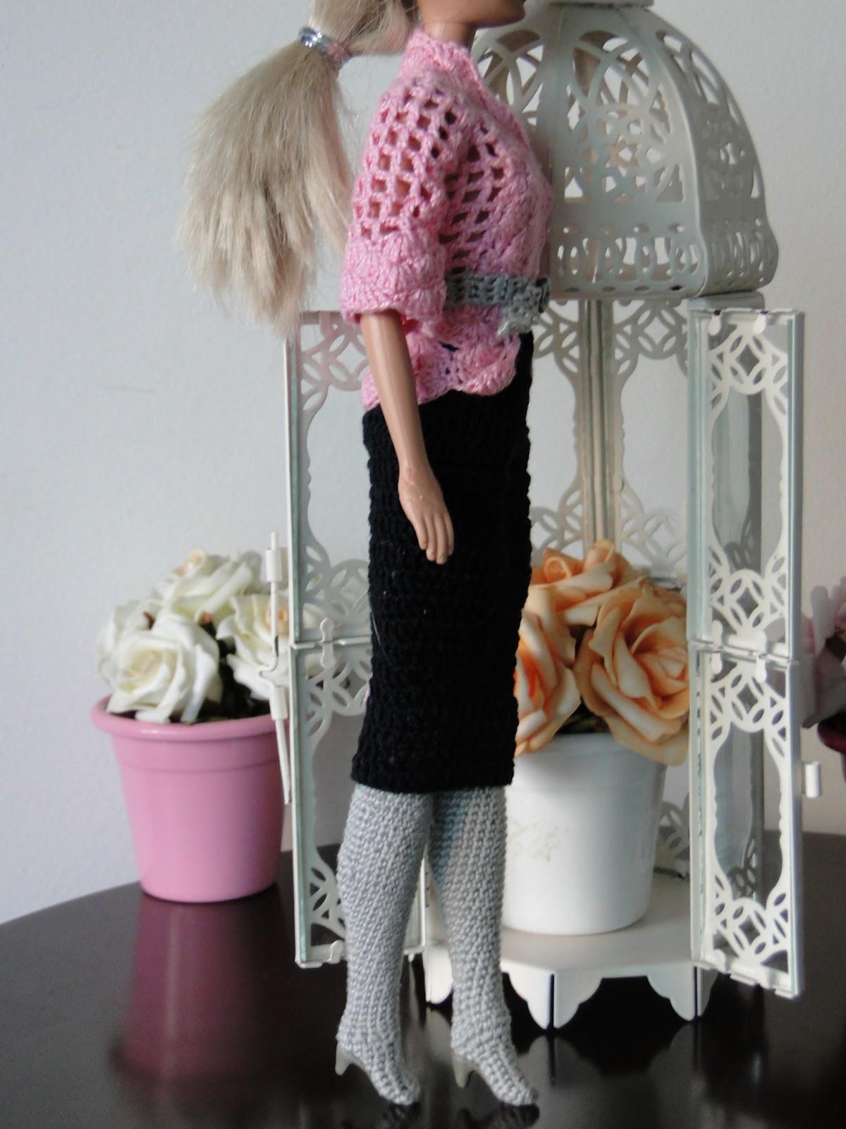 Roupa de Crochê Para Barbie Por Pecunia MillioM 6