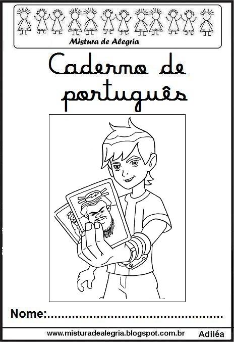 Capas Para Cadernos Do Ben 10 Para Imprimir E Colorir Ideias E
