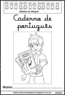 Capa caderno português Ben 10