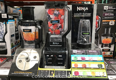 Chop vegetables or prepare smoothies, purees, and sauces with the Ninja Intelli-Sense Kitchen System