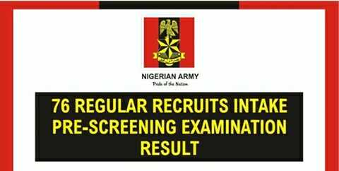 Nigerian Army Releases List of Recruitment Intake & Details of Zonal Screening Exercise