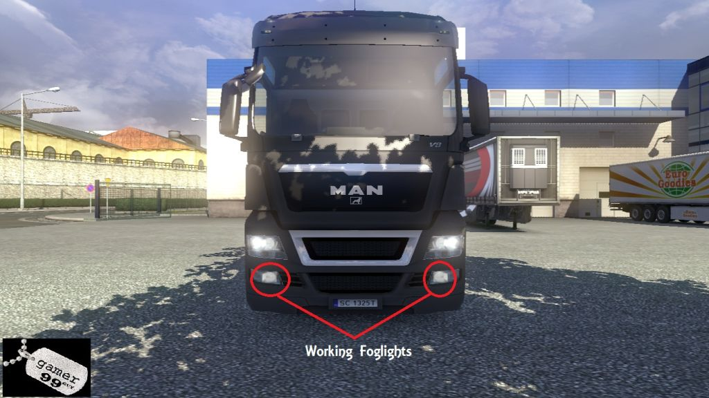 Working Foglights for ETS2 Trucks - MAN