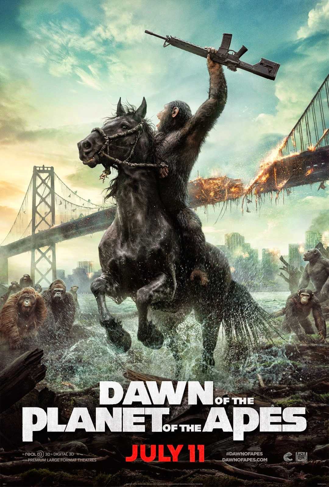 DAWN OF THE PLANET OF THE APES (2014) ... NEW POSTER, NEW ... |Dawn Of The Planet Of The Apes 2014
