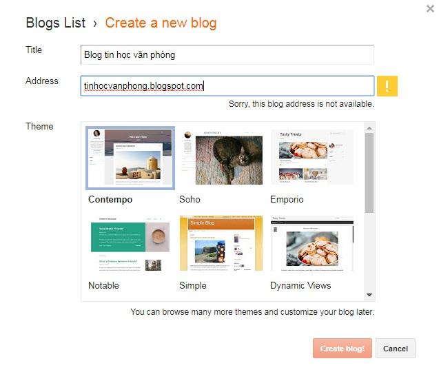 Đặt tên cho blog bạn cần tạo rất đơn giản