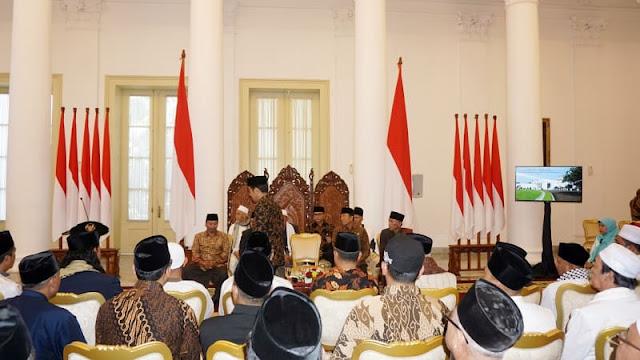 Jokowi Minta Ulama Ikut Luruskan Hoaks dan Fitnah di Tahun Politik