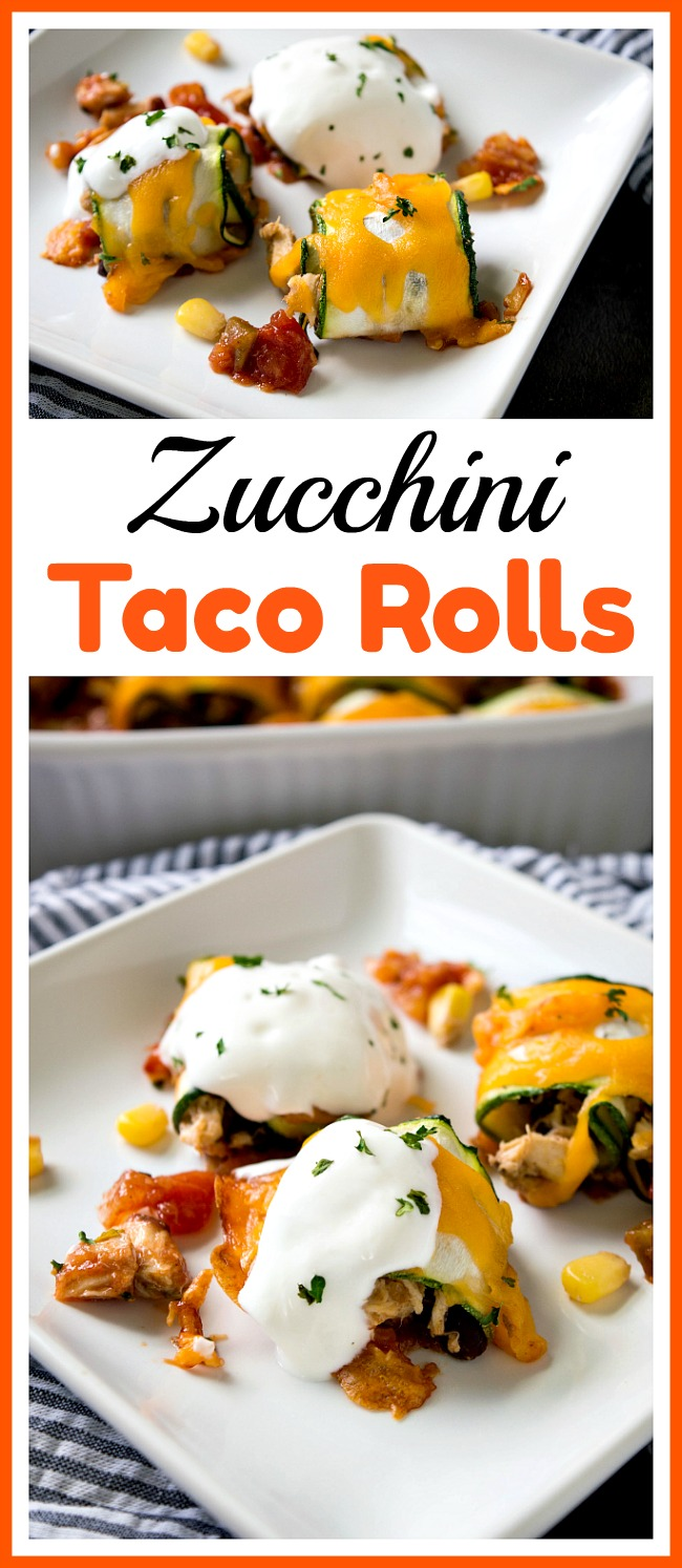 Zucchini Taco Rolls- If you need a quick lunch or dinner, you couldn't go wrong with these fast (and delicious!) zucchini taco rolls! They're so easy to make! | Mexican food, healthy, chicken, beans, easy recipes for busy moms, ways to use up zucchini