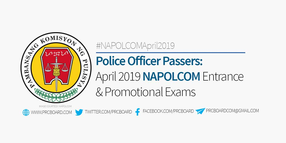 Police Officer Passers April 2019 Napolcom Exam Results