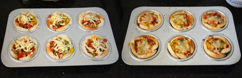 how to prepare bread pizza cups