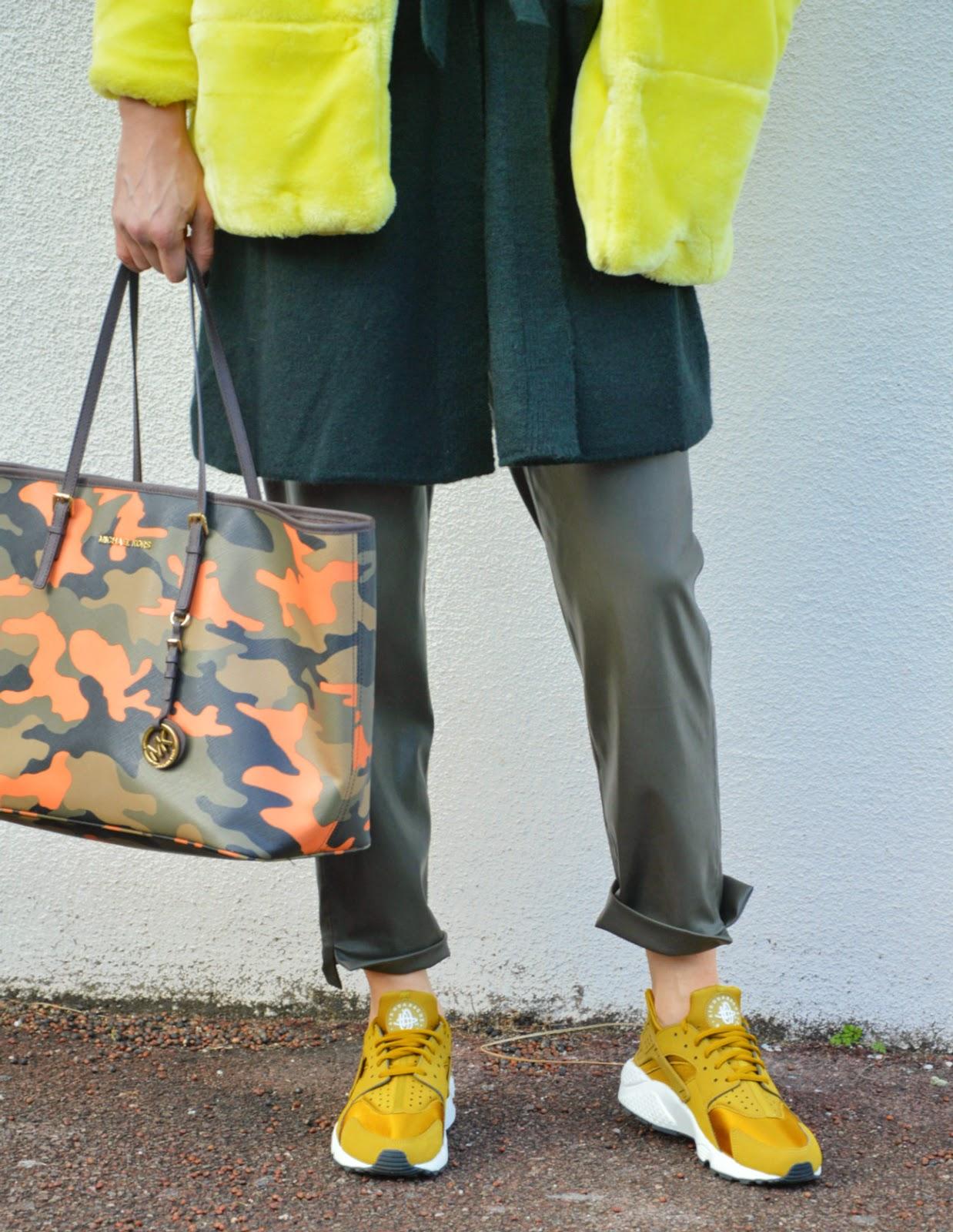 f4fb5485d43de Fashion Musings Diary  Green Monochrome Mix and Nike Huarache Bronzine