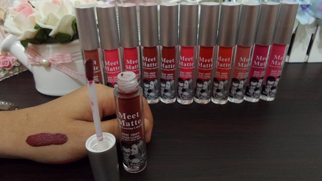 Warna Lipgloss MEET MATTE Kiss Beauty MEET MATTE seri 13-24