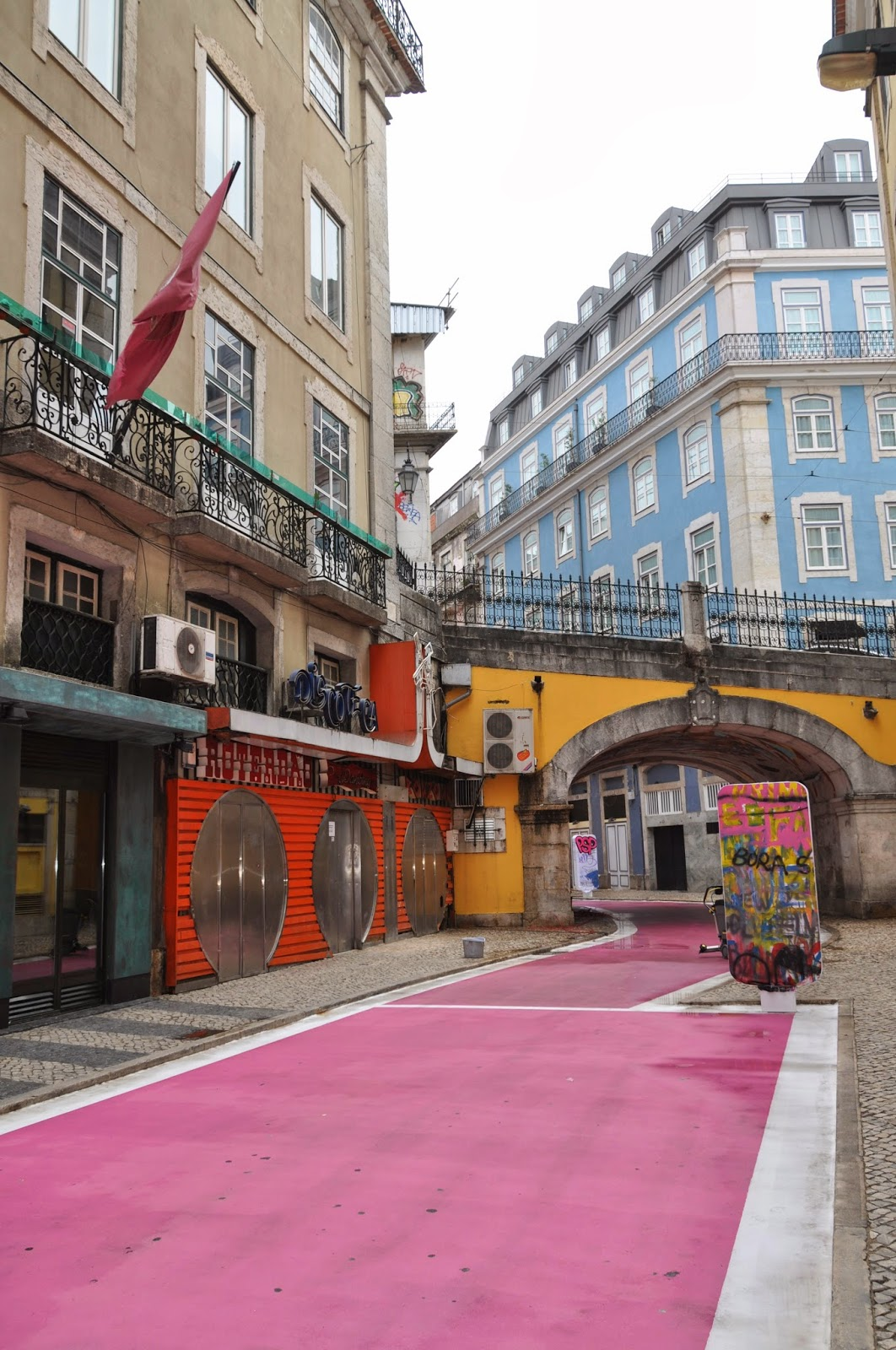 iolanda andrade The pink street in Cais do Sodr area Lisbon  The 26th of October 2013