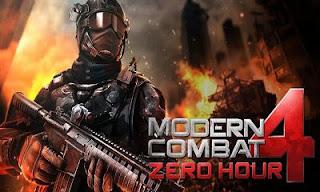 Modern combat 4 Zero Hour Apk v1.2.2e Mod Full