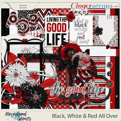 Black, White & Red All Over