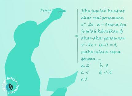 pembahasan soal SBMPTN persamaan kuadrat