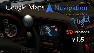 ETS 2 Google Maps Navigation Night Version for ProMods