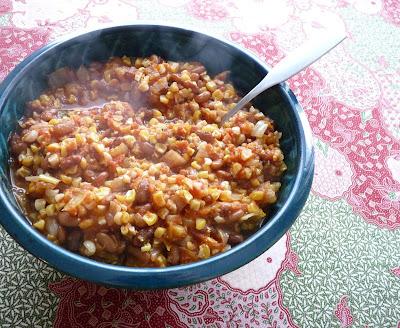 Bean, Squash, & Corn Stew; A Kind of Succotash