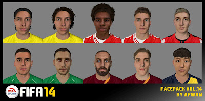 FIFA 14 Facepack Vol. 14 by Afwan