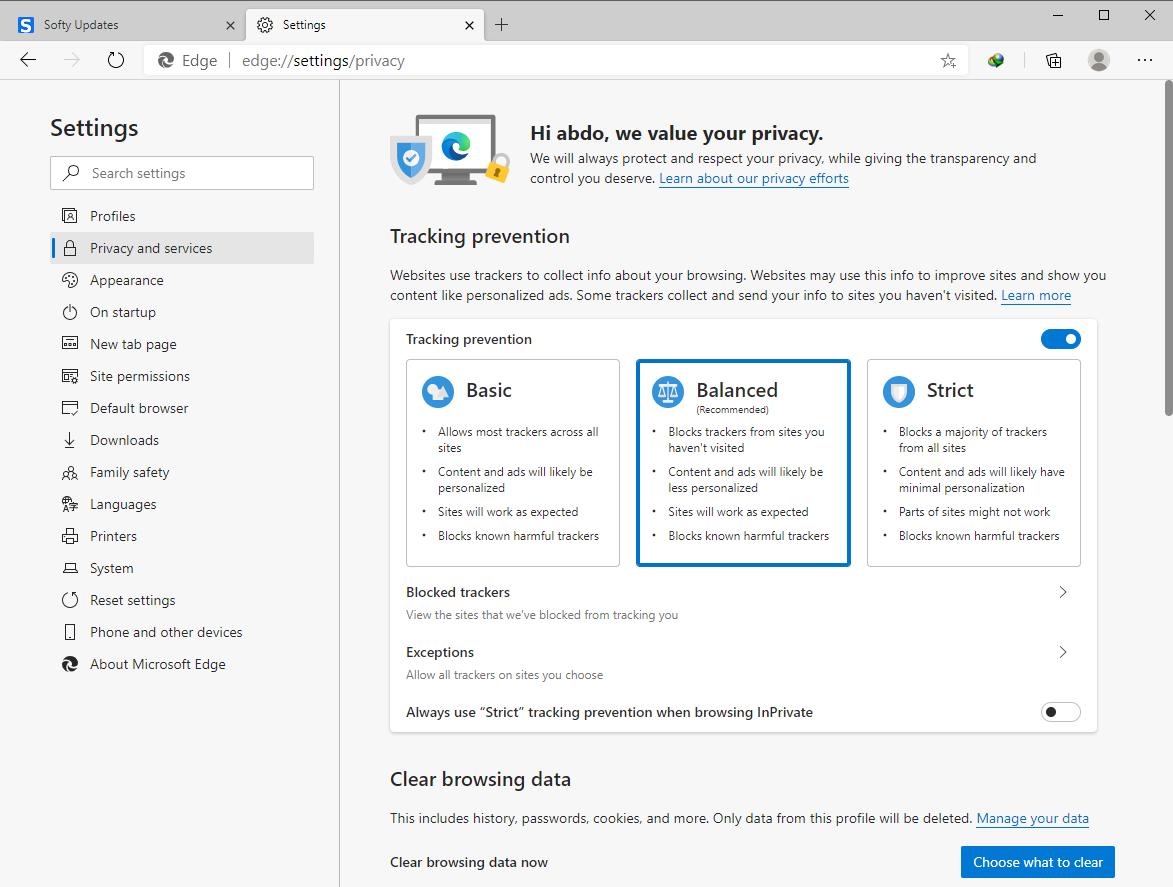 Microsoft Edge 83.0.478.64