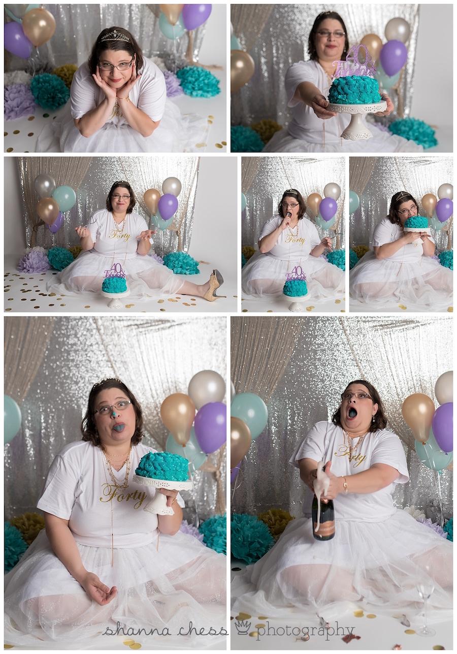 eugene oregon cake smash photography