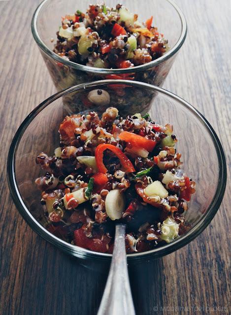 Ohne Minze: Quinoa-Salat nach Taboulé-Art. #Quinoa #Taboule #Salat #MoToLogie