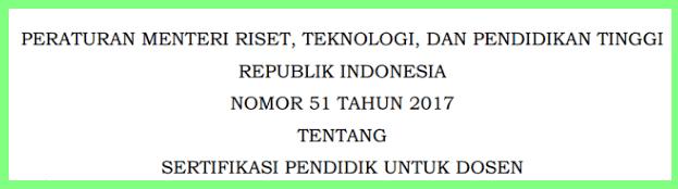 Permenristekdikti Nomor (No) 51 Tahun 2017