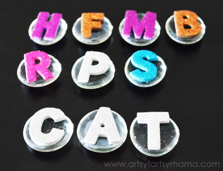 DIY Alphabet & Number Gems from artsyfartsymama.com #kids #homeschool