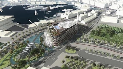Recreación del proyecto turístico que tenían previsto acometer en la Marina Real de Valencia.