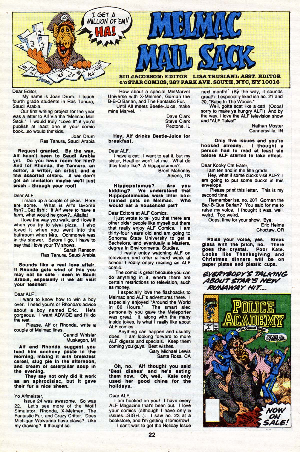 Read online ALF comic -  Issue #27 - 18
