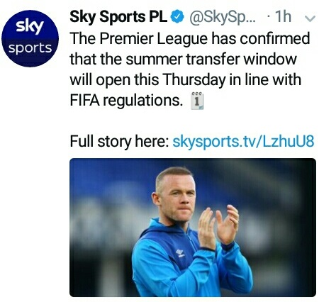 Premier League Opens Transfer Window This Week