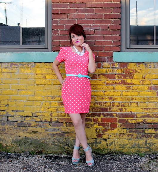 Heather's Thrifty Closet: 80's Polka Dots With A Twist..