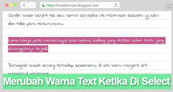 highlight text selection