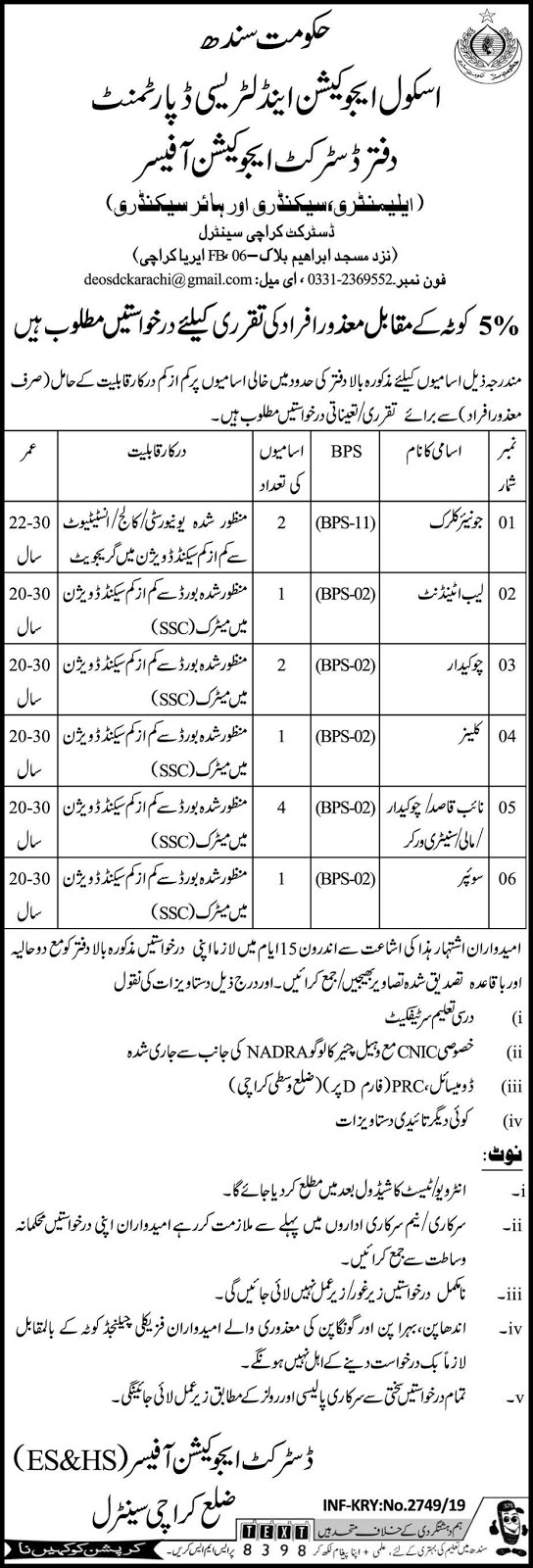 Disabled Quota] Jobs in School Education And Literacy