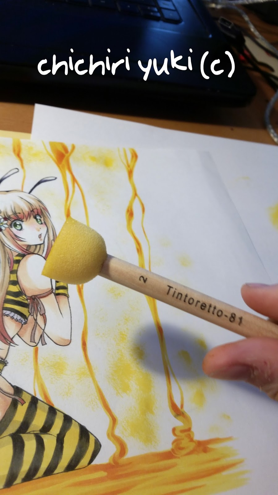 Copic italia: tutorial: colorare il miele