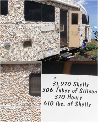 Camper Covered in Shells